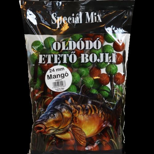 Speciál mix 24 mm-es Oldódó Etető Bojli MANGÓ