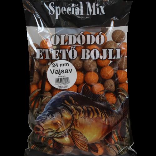Speciál mix 24 mm-es Oldódó Etető Bojli VAJSAV
