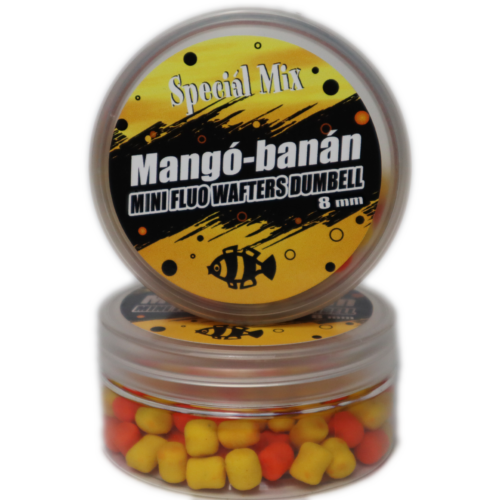 8 mm MANGÓ-BANÁN Fluo Wafters Dumbell